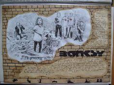62 Ideas For Gcse Art Sketchbook Analysis Banksy Artist, Artist Research Page, Gcse Art Sketchbook, Sketchbook Ideas, Banksy Paintings, Easy Art Projects, Unicorn Art, Game Concept Art, Art N Craft