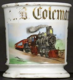 Occupational Shaving Mug for Train Engineer : Lot 1050