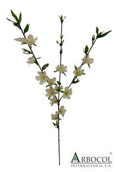 Flor durazno blanca 12213  $7875  86 cms alto x 8 cms ancho