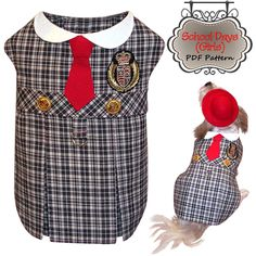 Dog Clothes Pattern To Sew, School Girl Dress By Miss Daisy Designs. http://missdaisydesigns.com