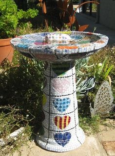 Mosaic Birdbaths - Mosaic Tiles, Mosaics & Mosaic Supplies Online, How to Mosaic Art Craft