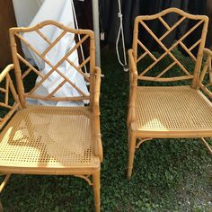 Transformed a pair of these fab faux bamboo chairs in my new book #fleamarketfabulous