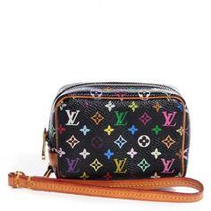 Louis Vuitton Black Multicolor Monogram Wapity