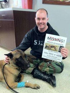 K-9 found: Police dog home after 2 months missing