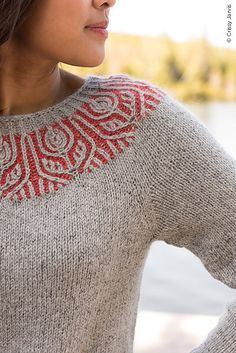 Helenium- Helenium Ravelry: Helenium pattern by Amanda Scheuzger - Sweater Knitting Patterns, Knitting Stitches, Knit Patterns, Hand Knitting, Knitting Designs, How To Purl Knit, Fair Isle Knitting, Pulls, Knitwear