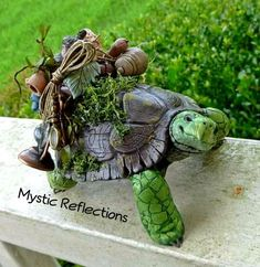 Handmade one of a kind Polymerclay turtle sculpture by Mystic Reflections Polymer Clay Creations, Fantasy Artwork, Mystic, Garden Sculpture, Etsy Seller, Turtles, Creative, Handmade, Google Search