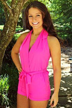 Miss Priss Romper - Pink $49.99 #SouthernFriedChics