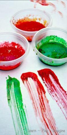 Pintura de dedos casera para bebés