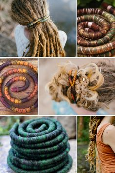 New Spiralocks in stock! Henna, Jungle Love, Mischief, Tropical, Earthy! #Spiralocks, the original bendable wire #dreadtie Easy to use and fits around any size dreadlocks. Dreadlock Hairstyles using the SPiralock Dread Tie. #dreadaccessories #mountaindreads #spiralock #wooldreads #dreadlocks #dreads #dreadhairstyles #dreadlockhairstyles Wool Dreads, Dreadlocks, Adventure Time Girls, Dreadlock Accessories, Jungle Love, Dreadlock Hairstyles, Wool Felt, Earthy, Henna