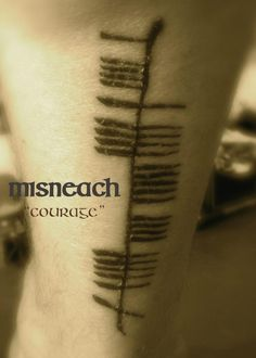 """Misneach""/courage (created from Ogham Art presentation)"