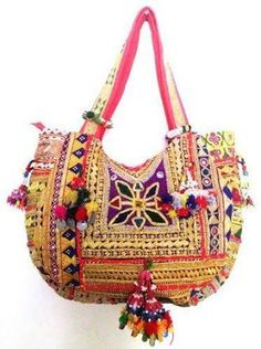 Handmade vintage banjara bag  only on  nandnandini.com