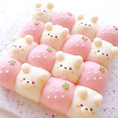 Cute Desserts, Dessert Recipes, Cute Baking, Kawaii Dessert, Cafe Food, Aesthetic Food, Food Cravings, Japanese Food, Japanese Wagashi