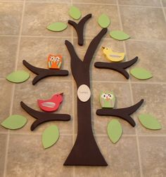 Wooden Tree wall decor/nursery decor- made from solid Wood. $89.99, via Etsy.