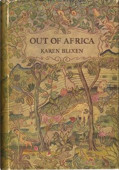 """Beautiful vintage jacket for Karen Blixen's classic, """"Out of Africa"""". One of my favorites, and boy would I love this rendition... ~ETS"""