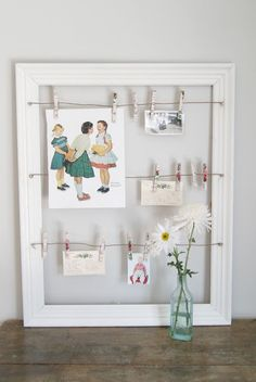 @ Post Road Vintage: DIY Frame with wire to hang photos