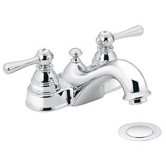 Bathroom Faucets DIY | Moen 6101 Kingsley TwoHandle LowArc Bathroom Faucet with Drain Assembly Chrome *** Read more reviews of the product by visiting the link on the image. Note:It is Affiliate Link to Amazon. #pleasecomment