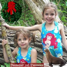 "Happy Holidays from Twiniversity and Safari Ltd® -Meet Abigail and Lily - @Twiniversity Loves Families of Multiples ""24 Days of Twinnies"" - Dec. 2"