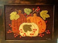 Image result for Wool Applique Pumpkins