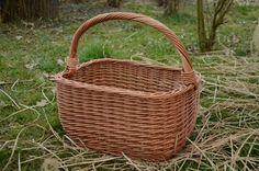 Big Picnic Basket Large Wicker Basket by WillowSouvenir on Etsy