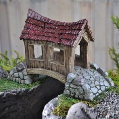 Fiddlehead Fairy Village Covered Bridge – eFairies.com