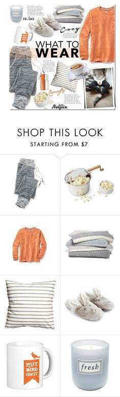 """""""What to Wear: Netflix Binge"""" by mada-malureanu ❤ liked on Polyvore featuring maurices, Old Navy, Barefoot Dreams, Accessorize, Fresh, (MALIN+GOETZ), WhatToWear and polyvoreeditorial"""