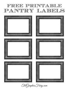 It's time to get organized with some printable canister labels for your pantry! We used this old apothecary label from the site and added a chalkboard look.