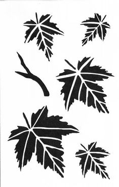 SS17 Maple Leaves II Small Stencil