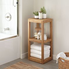 Both attractive and practical, the Three Tier Teak Wood Towel Shelf is perfect for organizing toiletries and storing bath towels. This teak bathroom shelf can be stained, if desired or left natural. Teak Bathroom, Bathroom Towel Storage, Towel Shelf, Bathroom Furniture, Bathroom Interior, Small Bathroom, Wooden Bathroom Shelves, Bathroom Ideas, Parisian Bathroom