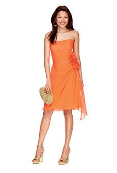 Buy any dress you like as long as it's short, comfortable, and solid orange color. —My  style direction for my bridesmaids.