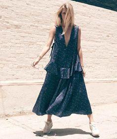 Sandy Liang Cooper Floral Print Dress