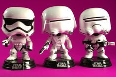 Funko Pop! Star Wars Guide #66 First Order Stormtrooper, #67 First Order Snowtrooper, #68 First Order Flametrooper