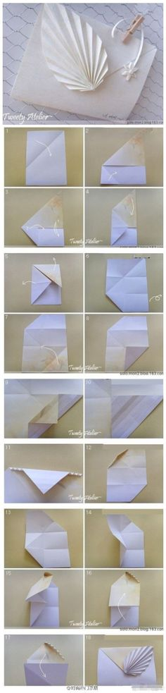 Origami envelope (visual) tutorial.Unfortunately the actual link is not in English.
