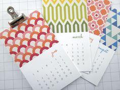 Modern Patterns  Series I  Mini 2013 Calendar by monkeymindesign, $12.00