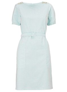 Turquoise Stripe Cotton Dress   A.P.C.