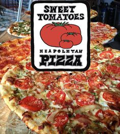 "Tomatoes' pizza is thin crust ""Neapolitan"" style. Using a whole..."