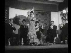 """Baile por Peteneras de Rosa Durán -   Dice una letra:  """"Quien te puso petenera/no supo ponerte nombre/que te debían de haber puesto/la perdición de los hombres'."""