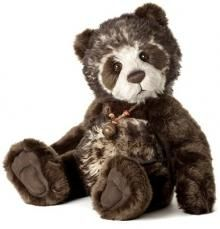 Charlie Bears gorgeous chocolate panda 'Breeny'
