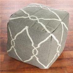 Trellis floor cushion/ottoman