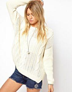 Suéter de punto de aran