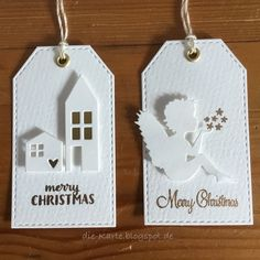 Christmas tags with stamping