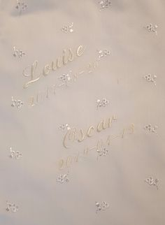 Baby Christening Gowns, Small Letters, Old Dresses, Font Styles, Text Color, White Fabrics, All Pictures, New Product, Machine Embroidery