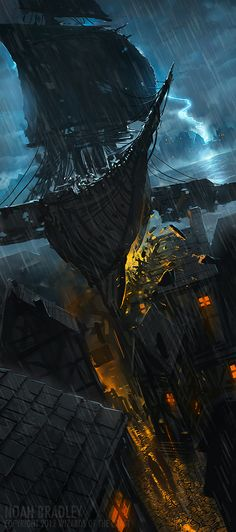 Because Skytimber is activated and aligned through the use of magnetic fields, flying a skycraft in a thunderstorm is a risky proposition. (The Storm Bird by *noahbradley)