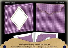 Purple Dotty Diamond 7x7inch Easy Envelope Mini Kit on Craftsuprint - Add To Basket!