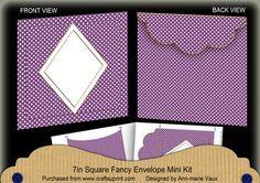 Purple Dotty Diamond 7x7inch Easy Envelope Mini Kit on Craftsuprint - Add To Basket!