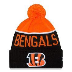 9fb526a9ed5 Men s Cincinnati Bengals New Era 2015 On-Field Sport Knit Hat with Pom
