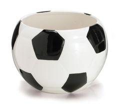 Ceramic Soccer Ball Centerpiece / Planter