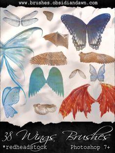 GIMP Wings Brushes by Project-GimpBC.deviantart.com