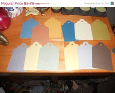 Christmas sale now on 3 1/2  inch tags premium cardstock by EMTWTT, $2.39