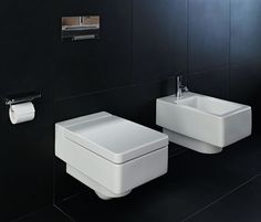 Living square WC - Designer Toilets by Laufen ✓ Comprehensive product & design information ✓ Catalogs ➜ Get inspired now Bathroom Window Curtains, Bathroom Windows, Bathroom Colors, Bathroom Sets, Laufen Bathroom, Bathroom Ensembles, Wall Hung Toilet, Toilet Design, Grey Tiles