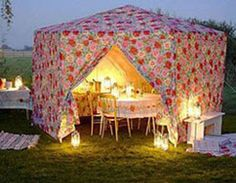Offer a glamping style tea party and use the camper only for food prep.